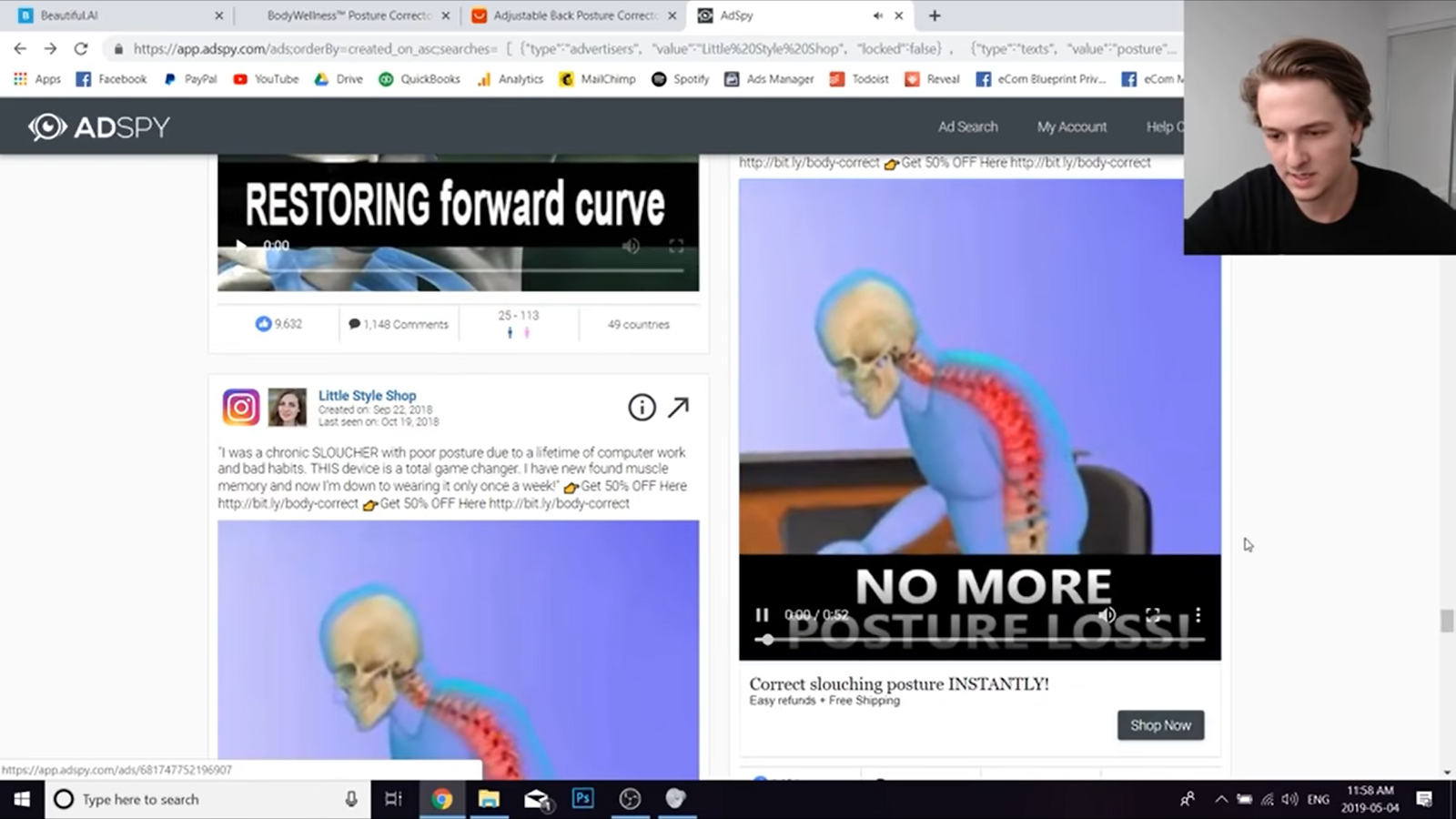 FB ad with different thumbnail
