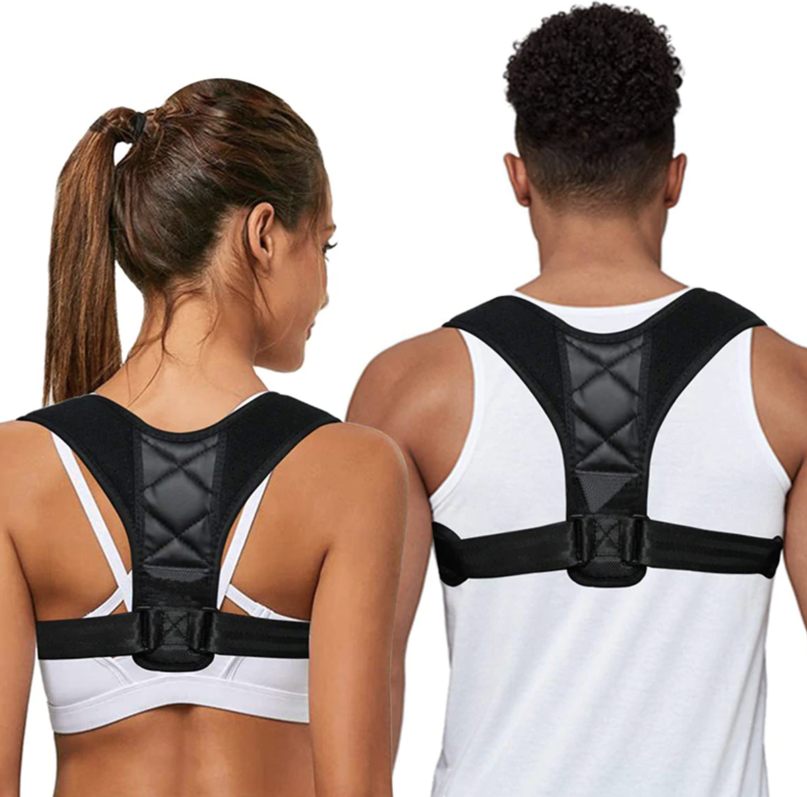 Facebook ad creative of posture corrector